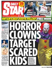 Daily Star (UK) Newspaper Front Page for 23 October 2017