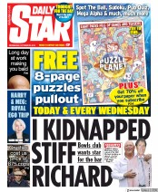Daily Star (UK) Newspaper Front Page for 23 October 2019