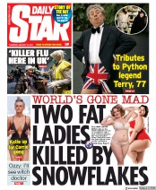 Daily Star () Newspaper Front Page for 23 January 2020