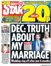 Daily Star (UK) Newspaper Front Page for 23 February 2016