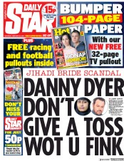 Daily Star (UK) Newspaper Front Page for 23 February 2019