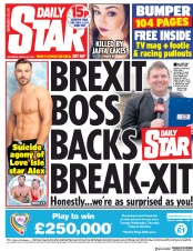Daily Star (UK) Newspaper Front Page for 23 March 2019