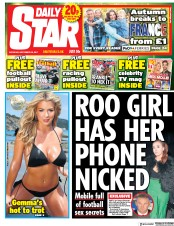 Daily Star (UK) Newspaper Front Page for 23 September 2017