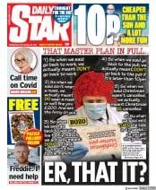 Daily Star front page for 23 September 2020