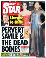 Daily Star Newspaper Front Page (UK) for 24 October 2012