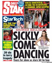 Daily Star (UK) Newspaper Front Page for 24 October 2019