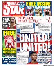 Daily Star front page for 24 October 2020