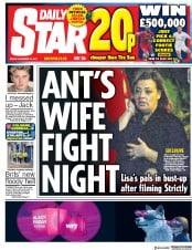Daily Star (UK) Newspaper Front Page for 24 November 2017