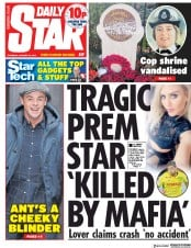 Daily Star () Newspaper Front Page for 24 January 2019
