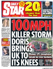 Daily Star (UK) Newspaper Front Page for 24 February 2017