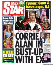 Daily Star (UK) Newspaper Front Page for 24 February 2020