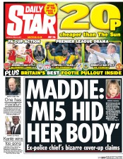 Daily Star (UK) Newspaper Front Page for 24 April 2017