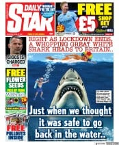 Daily Star front page for 24 April 2021