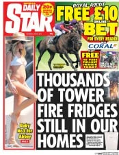 Daily Star (UK) Newspaper Front Page for 24 June 2017