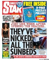 Daily Star front page for 24 June 2020