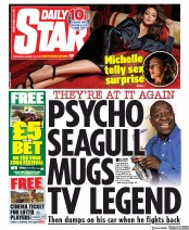 Daily Star (UK) Newspaper Front Page for 24 August 2019