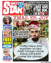 Daily Star front page for 25 November 2020