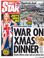 Daily Star (UK) Newspaper Front Page for 25 December 2018
