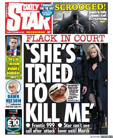 Daily Star Newspaper Front Page (UK) for 25 December 2019