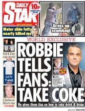 Daily Star () Newspaper Front Page for 25 January 2019