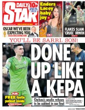 Daily Star () Newspaper Front Page for 25 February 2019