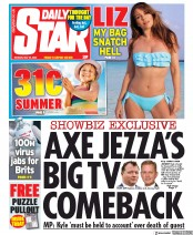 Daily Star front page for 25 May 2020