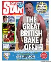 Daily Star front page for 25 June 2020