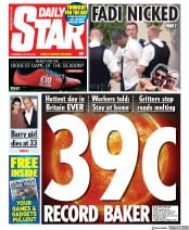Daily Star (UK) Newspaper Front Page for 25 July 2019
