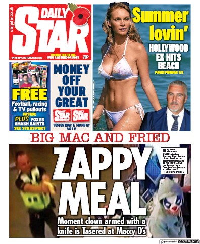 Daily Star Newspaper Front Page (UK) for 26 October 2019
