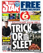 Daily Star front page for 26 October 2020