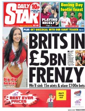 Daily Star (UK) Newspaper Front Page for 26 December 2018