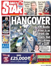 Daily Star (UK) Newspaper Front Page for 26 January 2019