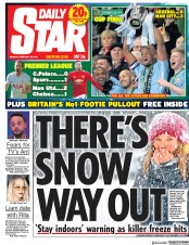 Daily Star (UK) Newspaper Front Page for 26 February 2018