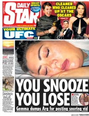 Daily Star () Newspaper Front Page for 26 February 2019