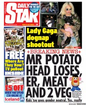 Daily Star front page for 26 February 2021