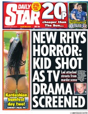 Daily Star (UK) Newspaper Front Page for 26 April 2017
