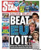 Daily Star () Newspaper Front Page for 26 April 2021