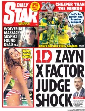 Daily Star (UK) Newspaper Front Page for 26 May 2015