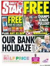 Daily Star (UK) Newspaper Front Page for 26 May 2018