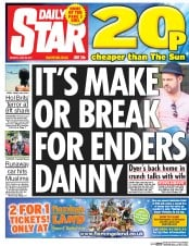 Daily Star (UK) Newspaper Front Page for 26 June 2017