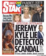 Daily Star (UK) Newspaper Front Page for 26 June 2019