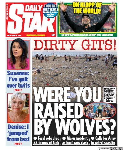 Daily Star Newspaper Front Page (UK) for 26 June 2020
