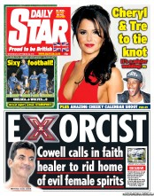 Daily Star Newspaper Front Page (UK) for 26 September 2012