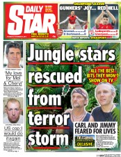Daily Star (UK) Newspaper Front Page for 27 November 2014