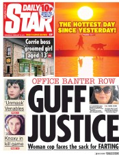 Daily Star () Newspaper Front Page for 27 February 2019