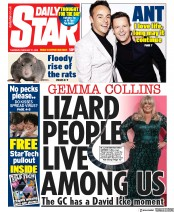 Daily Star (UK) Newspaper Front Page for 27 February 2020