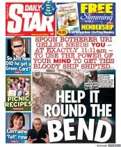 Daily Star front page for 27 March 2021
