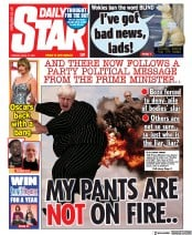 Daily Star front page for 27 April 2021