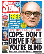 Daily Star (UK) Newspaper Front Page for 27 May 2020