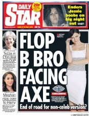 Daily Star (UK) Newspaper Front Page for 27 June 2017